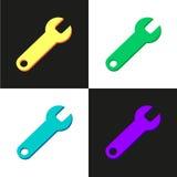 Llaves inglesas planas del color Fotos de archivo