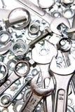 Llaves inglesas, tuercas - y - tornillos Fotografía de archivo libre de regalías