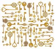 Llaves medievales ornamentales del vintage Imagenes de archivo