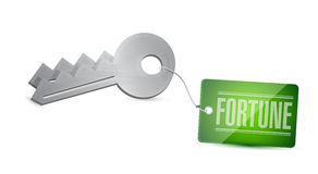 Llaves a su diseño del ejemplo del concepto de la fortuna Imagen de archivo libre de regalías