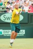 Llayton Hewitt во время Davis Cup удваивает братьев Брайан от США стоковое фото