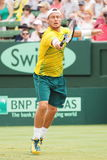 Llayton Hewitt during Davis Cup doubles the Brian Brothers from USA Stock Photo