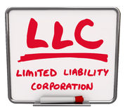 LLC Limited Liability Corporation Words Dry Erase Board Marker Royalty Free Stock Images