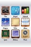 Lle altre icone mobili Fotografia Stock Libera da Diritti
