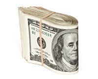 lle azione di cento fatture del dollaro Fotografie Stock