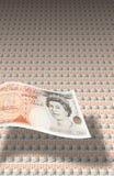 lle banconote dalle 50 libbre fotografia stock