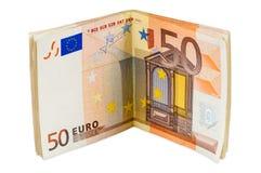 Lle banconote dell'euro 50 Immagini Stock