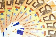 Lle banconote di 50 euro Fotografie Stock