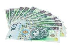 Lle banconote polacche di 100 PLN Fotografia Stock Libera da Diritti