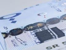 Lle banconote saudite del riyal di 500 alti vicini del extreem Immagini Stock Libere da Diritti