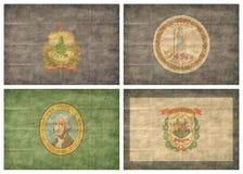 Lle bandierine della 12/13 di condizione di Stati Uniti royalty illustrazione gratis