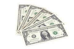 Lle fatture dell'un americano del dollaro Fotografia Stock Libera da Diritti