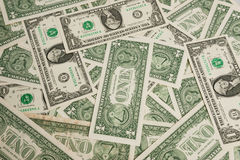 Lle fatture dell'un dollaro Immagini Stock Libere da Diritti