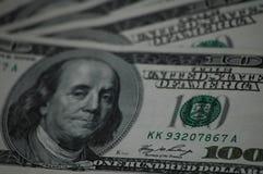 Lle fatture di cento dollari americani Immagini Stock