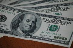 Lle fatture di cento dollari americani Immagine Stock Libera da Diritti