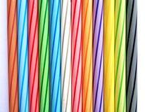 Lle matite di dozzina colori fotografia stock libera da diritti
