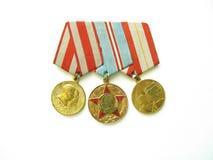 Lle medaglie della guerra mondiale due Fotografie Stock Libere da Diritti