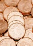 Lle monete dall'un centesimo Immagini Stock