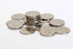 Lle monete di 1 rublo Fotografie Stock
