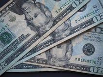 Lle note di 20 dollari, Stati Uniti Fotografie Stock Libere da Diritti