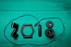 Lle nuove cifre da 2018 anni fotografie stock