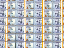 Lle pile di 100 banconote in dollari Immagine Stock Libera da Diritti