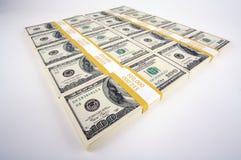 Lle pile di cento fatture del dollaro Immagine Stock