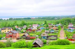 Lle strade trasversali di due vie Pereslavl-Zalesskiy, Russia Fotografia Stock