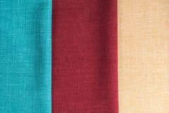 Lle strisce verticali di tre tessuti fotografia stock libera da diritti