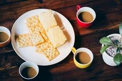 Lle tazze di caffè Fotografia Stock