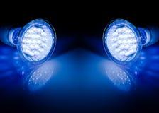 Travi delle lampade principali Fotografia Stock