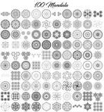 Lle varie collezioni della mandala di 100 insiemi illustrazione vettoriale