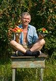lle verdure del 1 giardiniere delle mele Immagini Stock Libere da Diritti