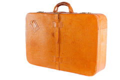 Lleather suitcase standing Royalty Free Stock Images