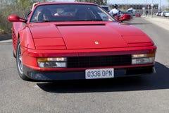 Llegada de Ferrari Testarossa Imagen de archivo libre de regalías