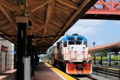 Llegada del tren Fotografía de archivo