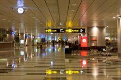 Llegada Pasillo del aeropuerto de Singapur Changi Fotografía de archivo libre de regalías