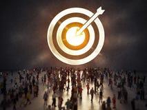 Llegue una meta del éxito representación 3d stock de ilustración