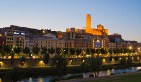 Free Lleida Cathedral And City With Evening Sky Stock Images - 54312874