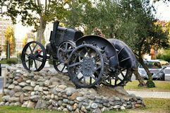 Lleida monument tractor Royalty Free Stock Photos