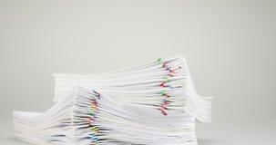 Llene el documento de la sobrecarga del informe sobre el lapso de tiempo blanco del fondo almacen de video