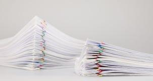 Llene el papeleo de la sobrecarga del lapso de tiempo del documento de la sobrecarga de la pila de la falta de definición metrajes