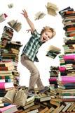 Lleno y muchacho-lector del libro Imágenes de archivo libres de regalías