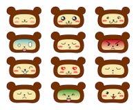 Lleva emoticons Imagen de archivo