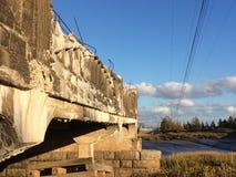 Llevado abajo del puente Foto de archivo libre de regalías