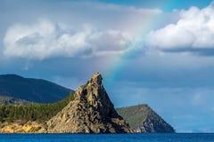 Llevado de un arco iris Fotografía de archivo libre de regalías
