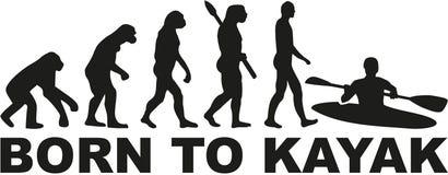 Llevado kayak evolución libre illustration