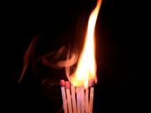 Llevado quemar Fotografía de archivo