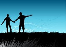 Llevando la manera adelante Imagen de archivo libre de regalías