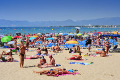 Llevant Beach, in Salou, Spain Stock Photography